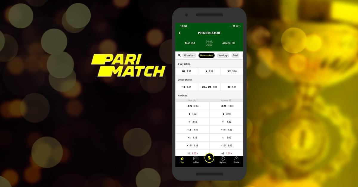 Online sports betting on PariMatch platform.